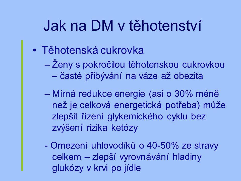 Jak na DM v těhotenství Těhotenská cukrovka
