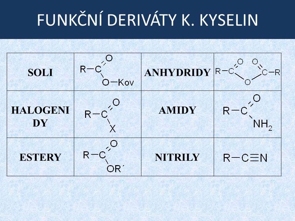 FUNKČNÍ DERIVÁTY K. KYSELIN