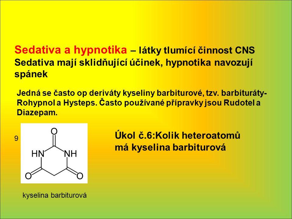 Sedativa a hypnotika – látky tlumící činnost CNS