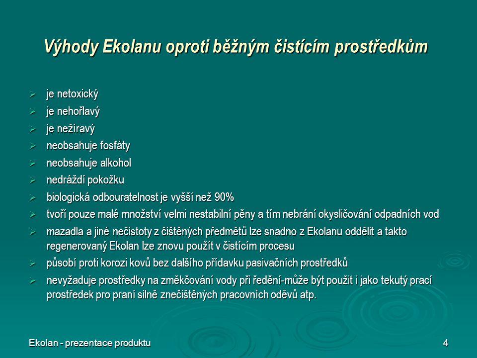 Výhody Ekolanu oproti běžným čistícím prostředkům