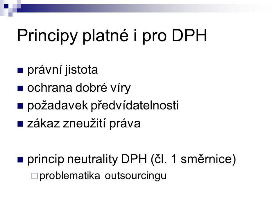 Principy platné i pro DPH