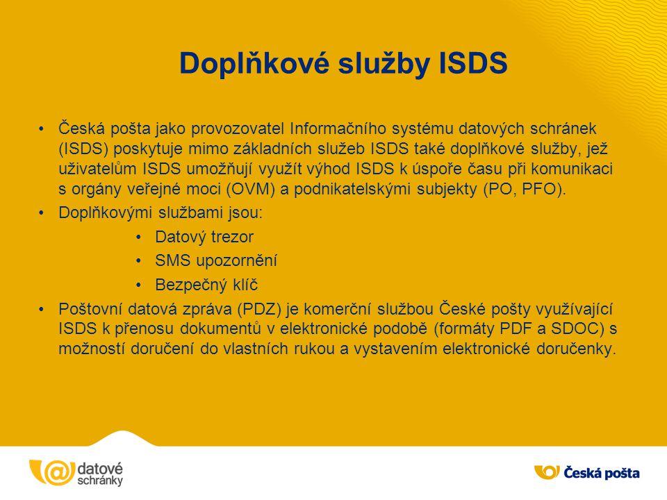 Doplňkové služby ISDS