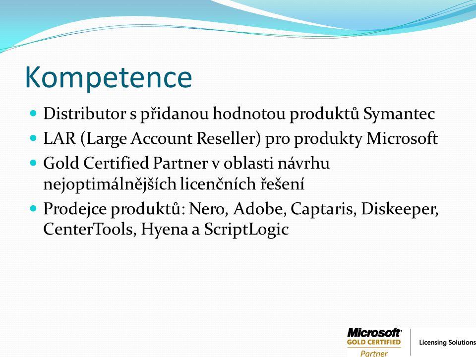 Kompetence Distributor s přidanou hodnotou produktů Symantec
