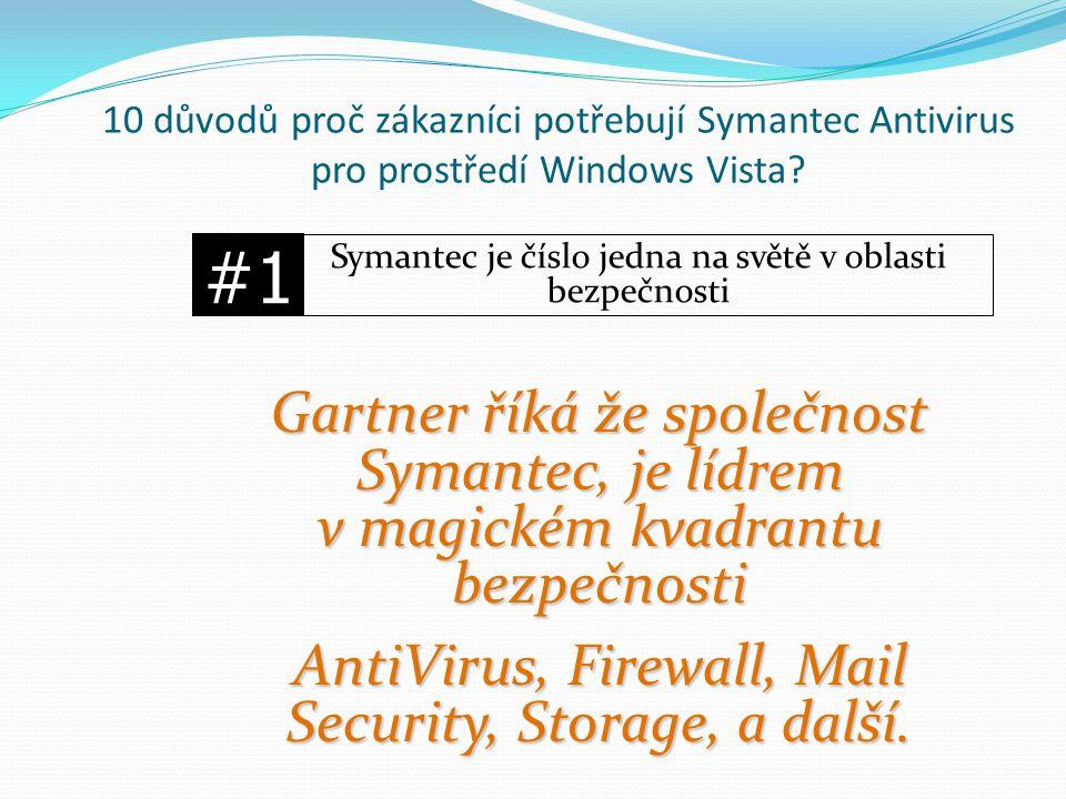 10 důvodů proč zákazníci potřebují Symantec Antivirus pro prostředí Windows Vista