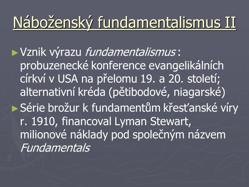 Náboženský fundamentalismus II