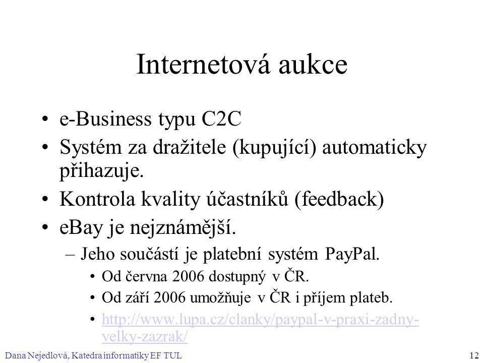 Internetová aukce e-Business typu C2C