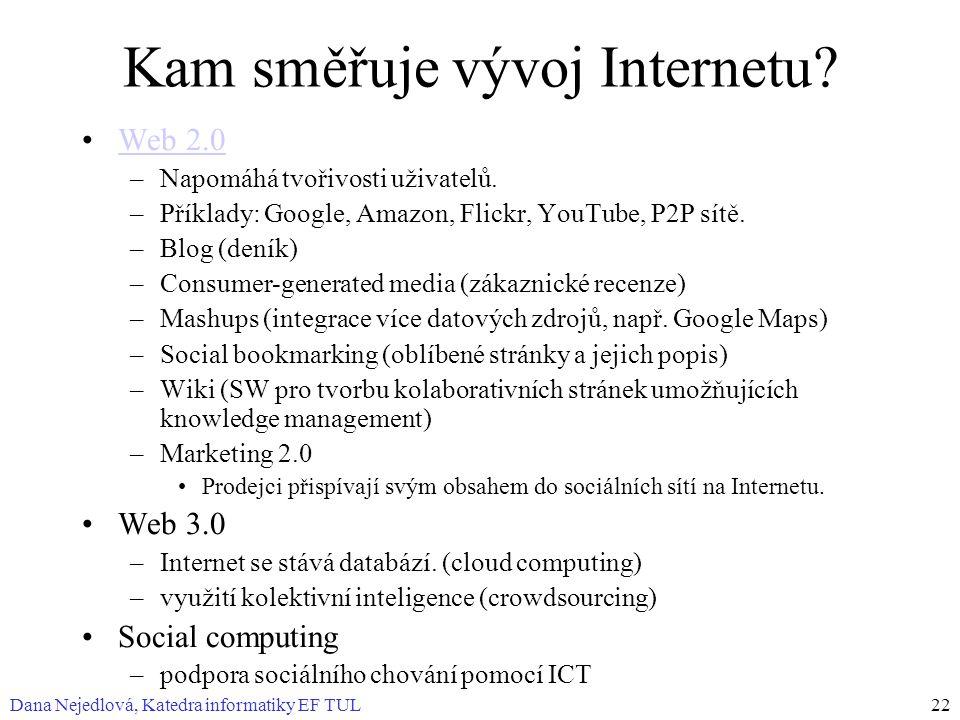 Kam směřuje vývoj Internetu