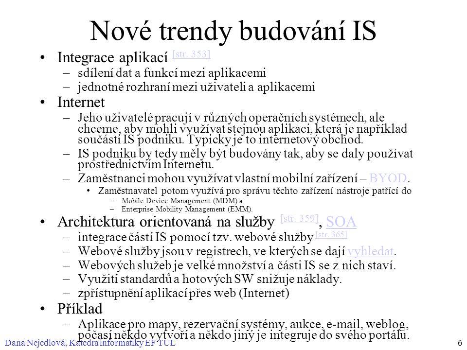 Nové trendy budování IS