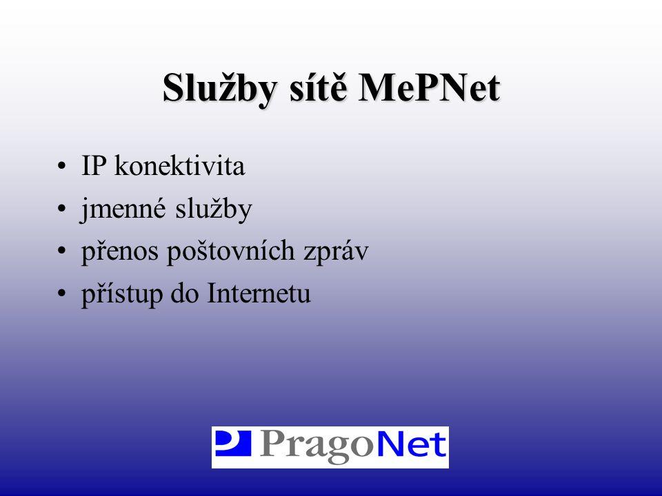 Služby sítě MePNet IP konektivita jmenné služby