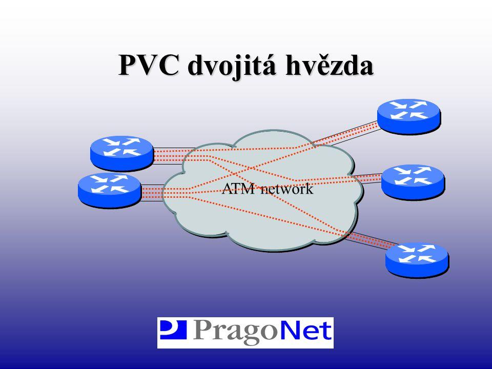 PVC dvojitá hvězda ATM network