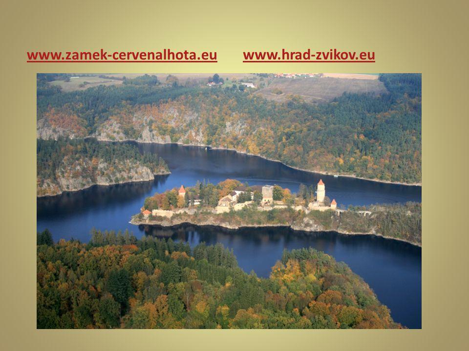 www.hrad-zvikov.eu www.zamek-cervenalhota.eu