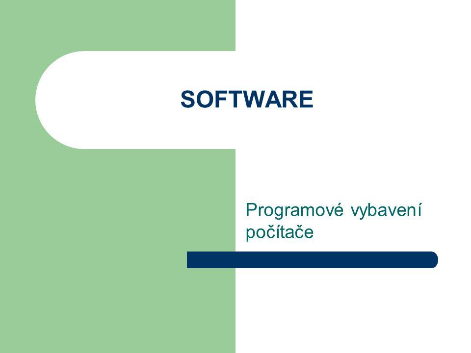 Programové vybavení počítače