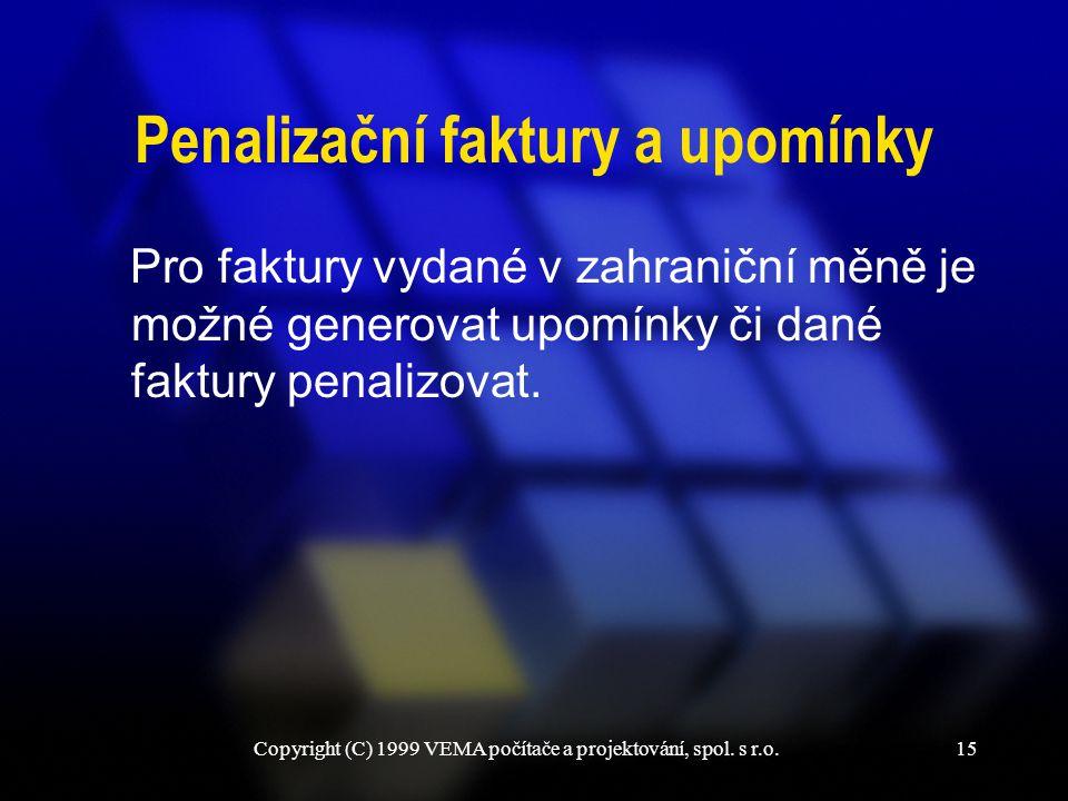 Penalizační faktury a upomínky