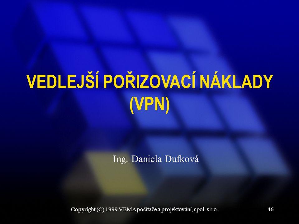 VEDLEJŠÍ POŘIZOVACÍ NÁKLADY (VPN)