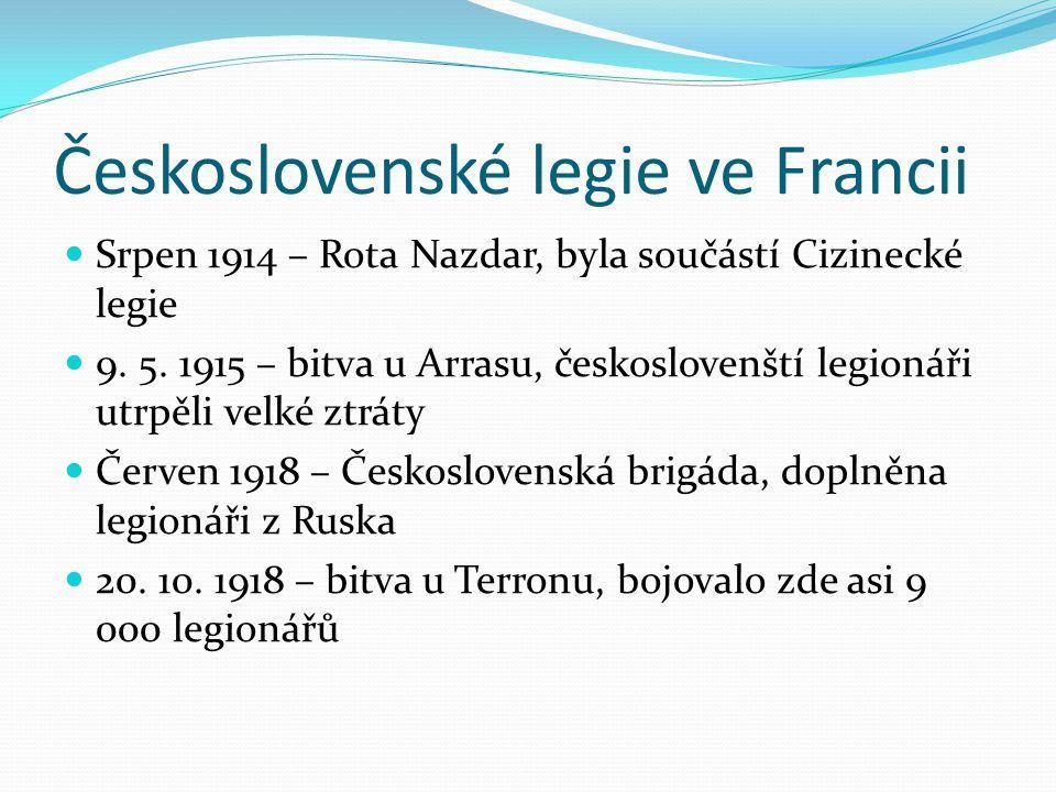 Československé legie ve Francii