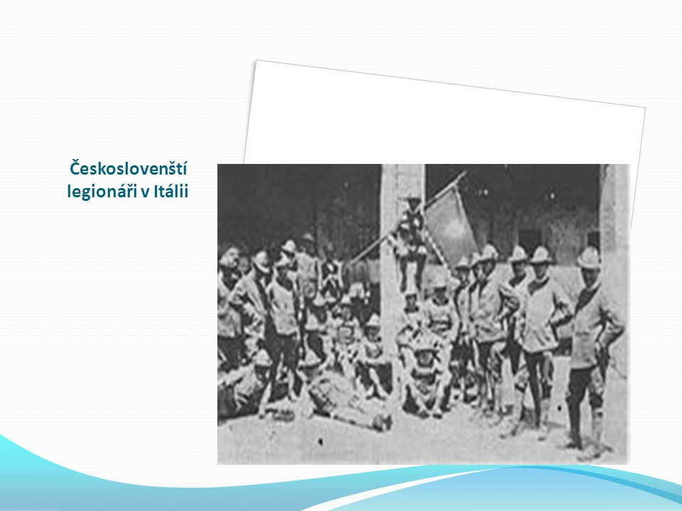 Českoslovenští legionáři v Itálii