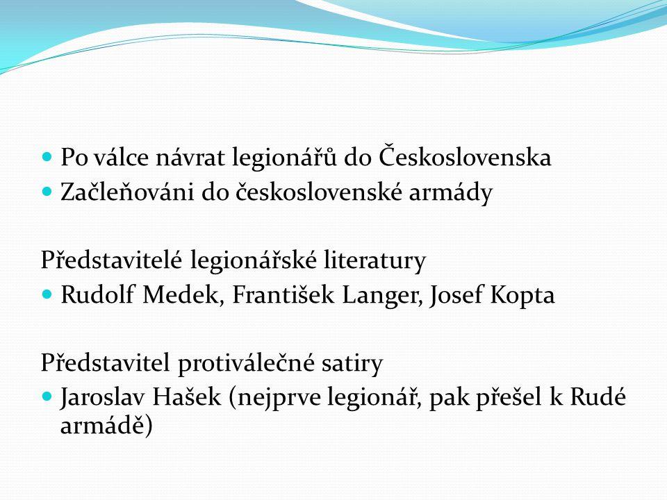 Po válce návrat legionářů do Československa