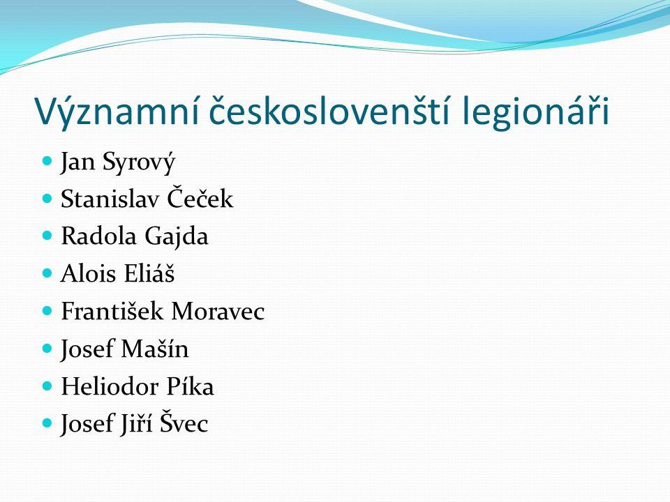 Významní českoslovenští legionáři