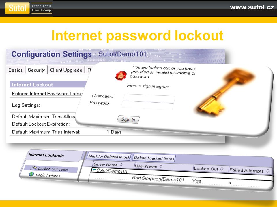 Internet password lockout