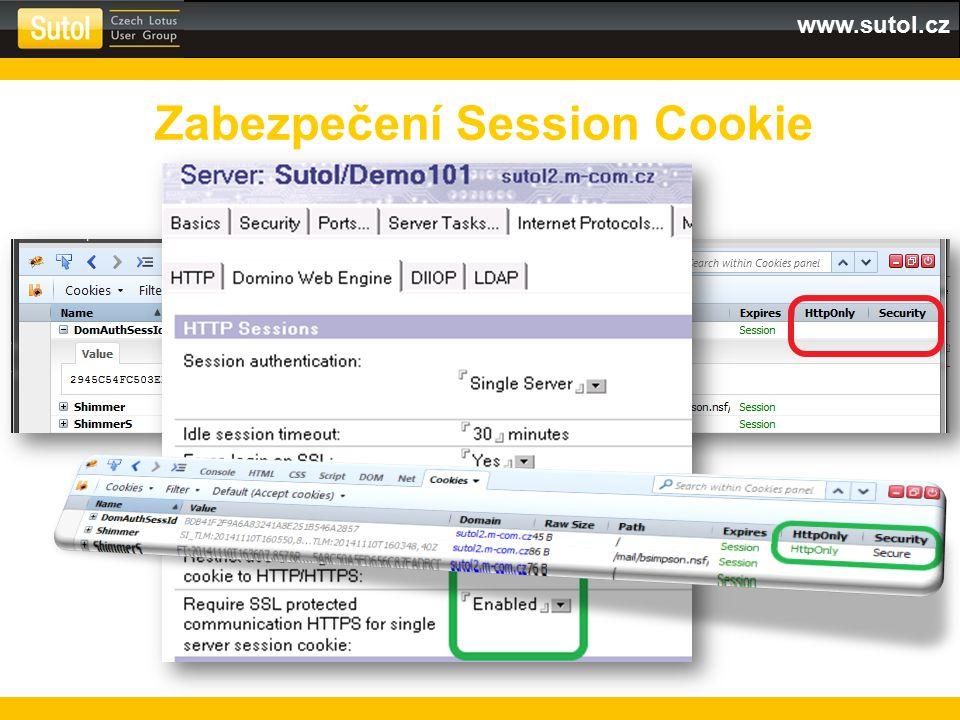 Zabezpečení Session Cookie