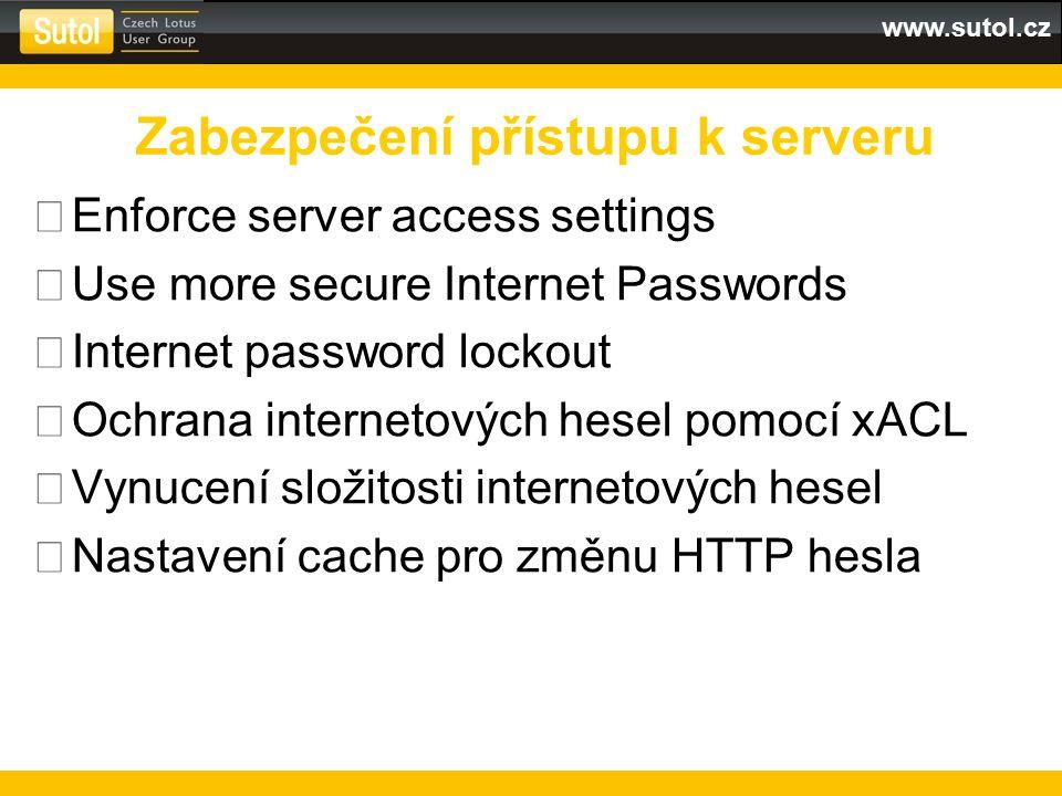Zabezpečení přístupu k serveru
