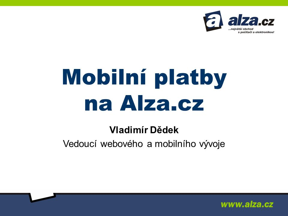 Mobilní platby na Alza.cz