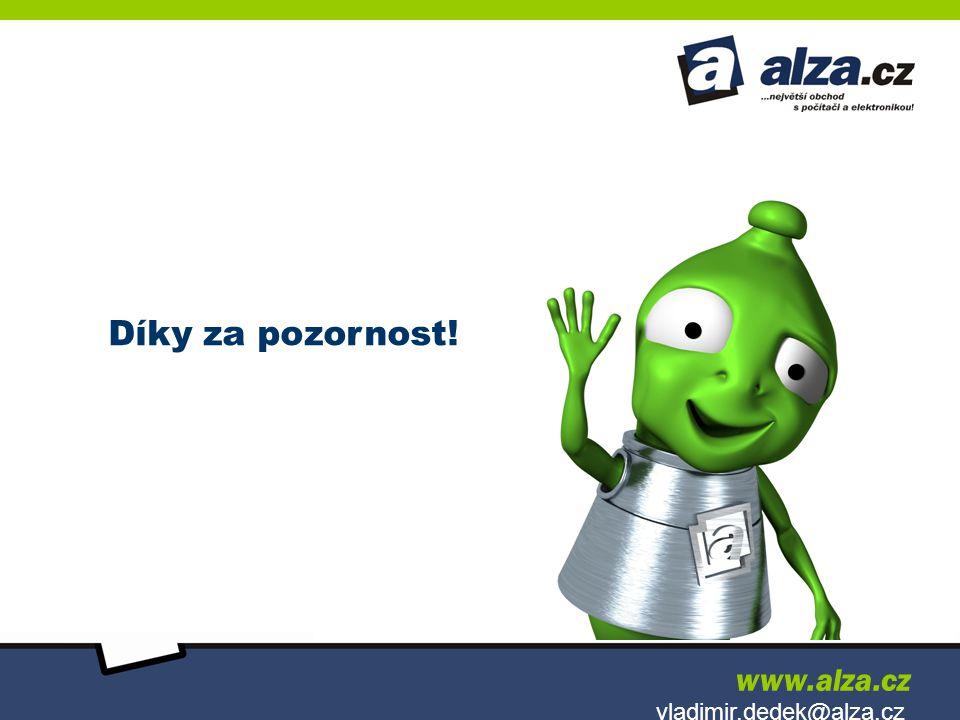 Díky za pozornost! www.alza.cz vladimir.dedek@alza.cz