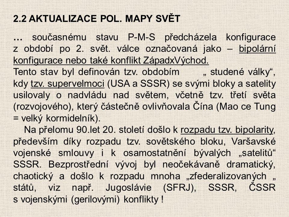 2.2 AKTUALIZACE POL. MAPY SVĚT