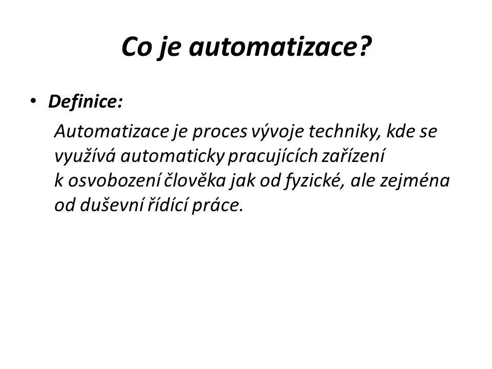 Co je automatizace Definice:
