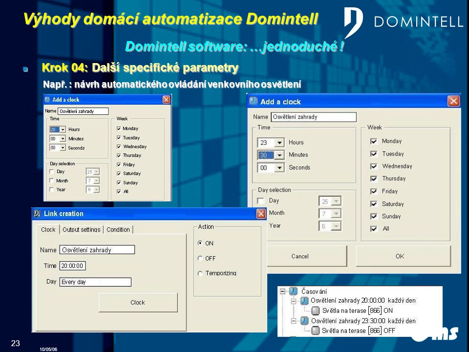 Domintell software: …jednoduché !