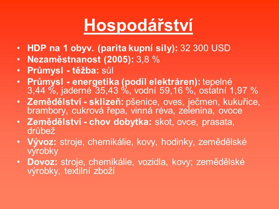Hospodářství HDP na 1 obyv. (parita kupní síly): 32 300 USD