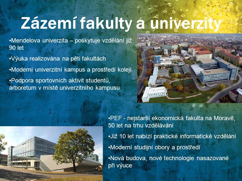Zázemí fakulty a univerzity