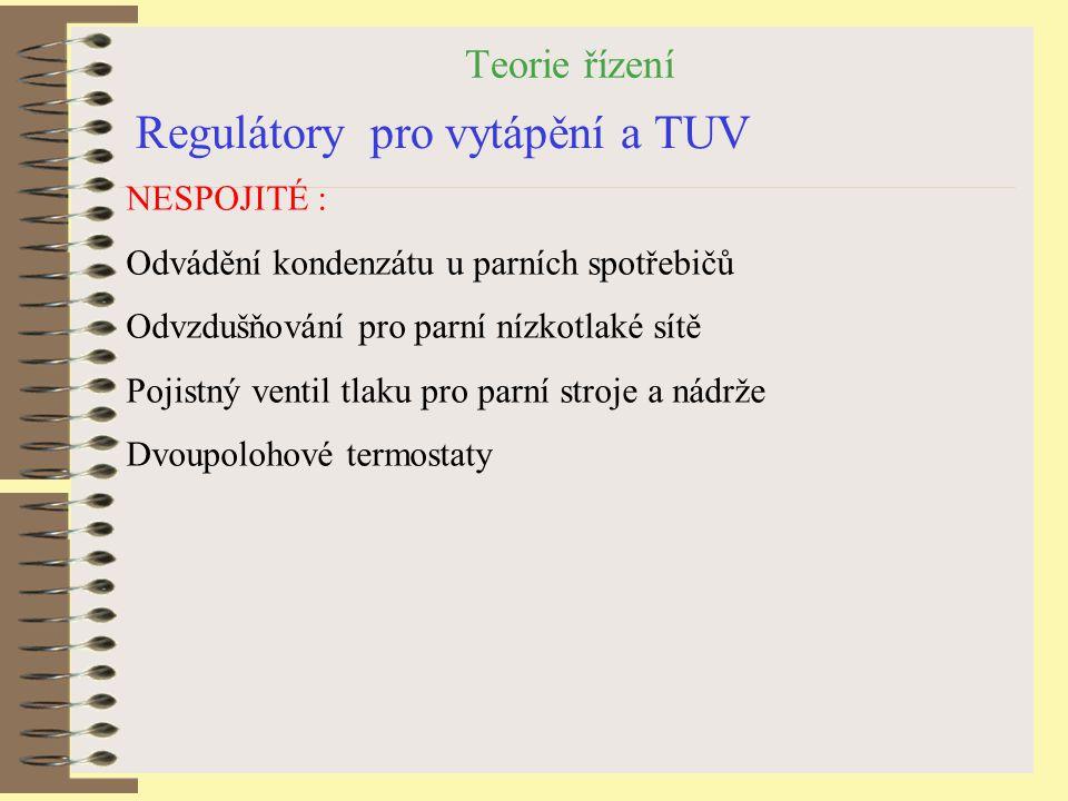 Regulátory pro vytápění a TUV