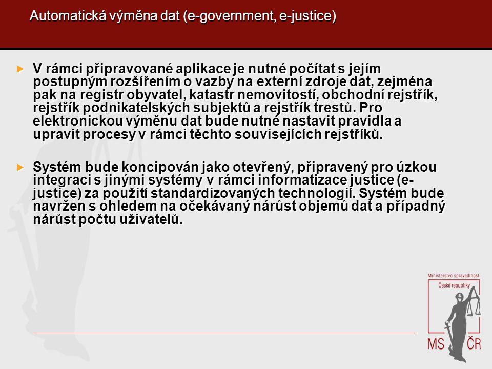 Automatická výměna dat (e-government, e-justice)