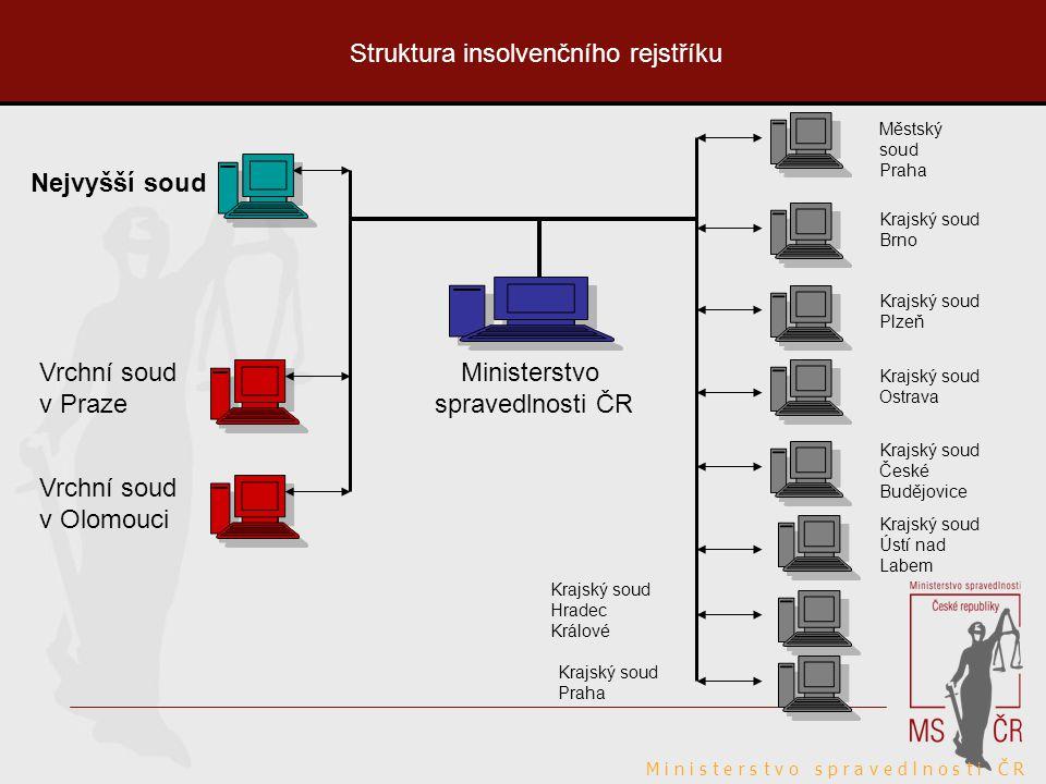 Struktura insolvenčního rejstříku