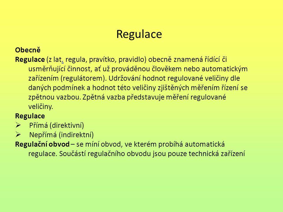 Regulace Obecně.