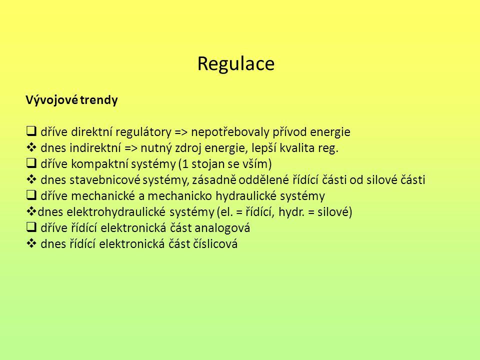Regulace Vývojové trendy
