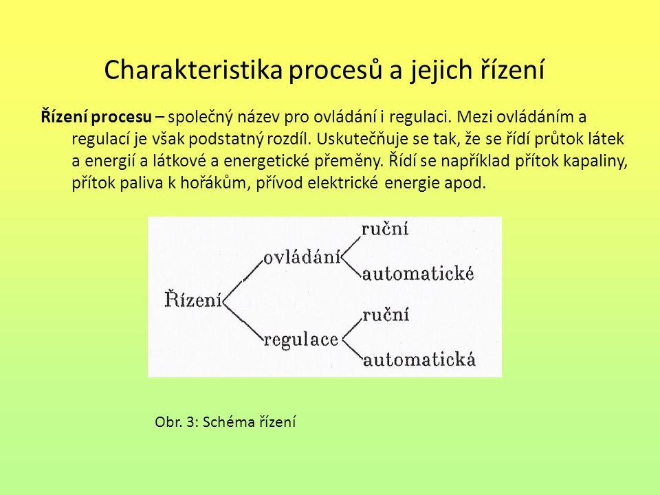 Charakteristika procesů a jejich řízení