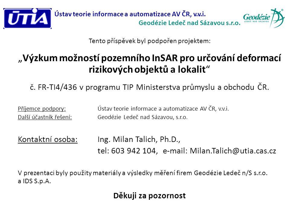 Ústav teorie informace a automatizace AV ČR, v.v.i.