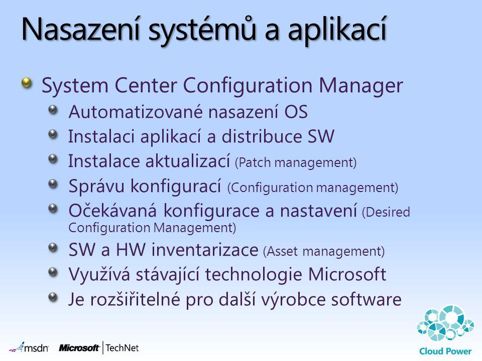 Nasazení systémů a aplikací