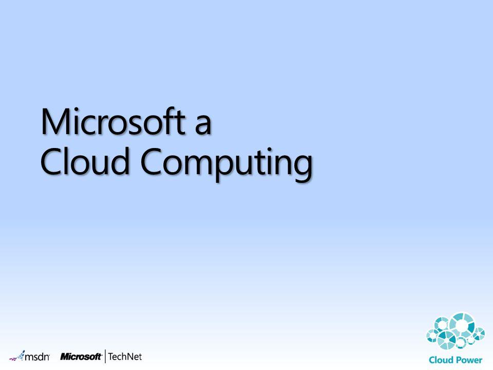 Microsoft a Cloud Computing