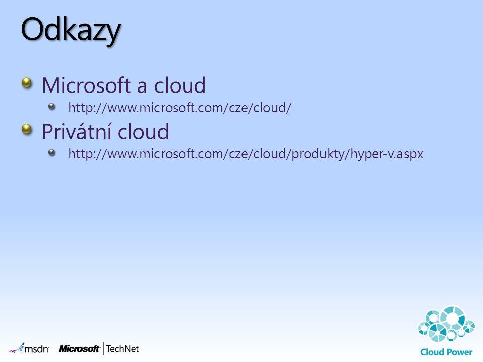 Odkazy Microsoft a cloud Privátní cloud