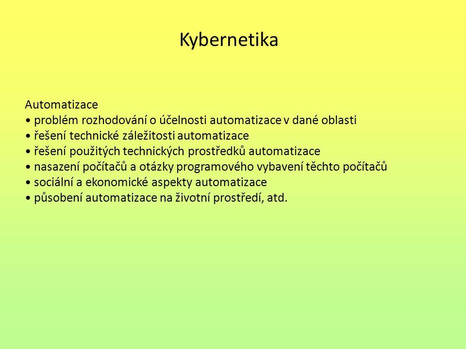 Kybernetika Automatizace