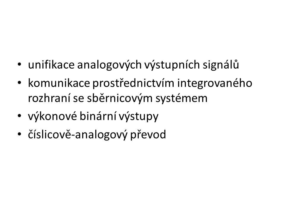 unifikace analogových výstupních signálů