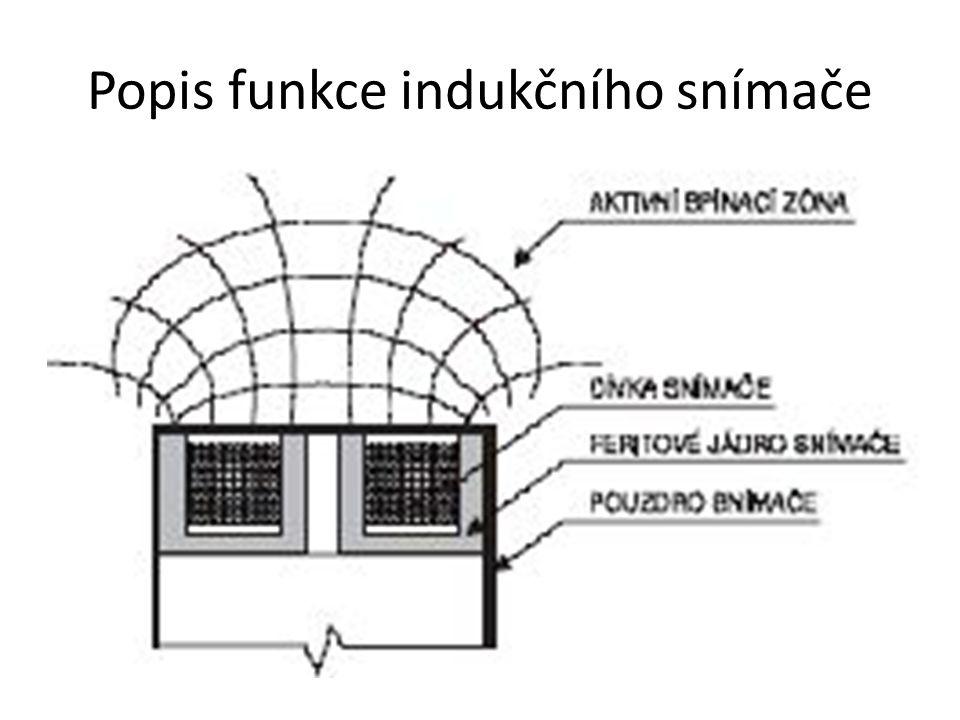Popis funkce indukčního snímače
