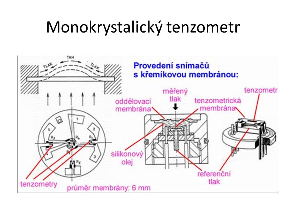 Monokrystalický tenzometr