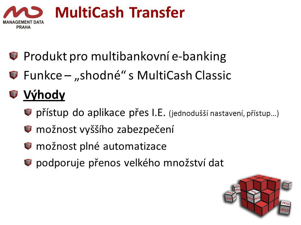 MultiCash Transfer Produkt pro multibankovní e-banking