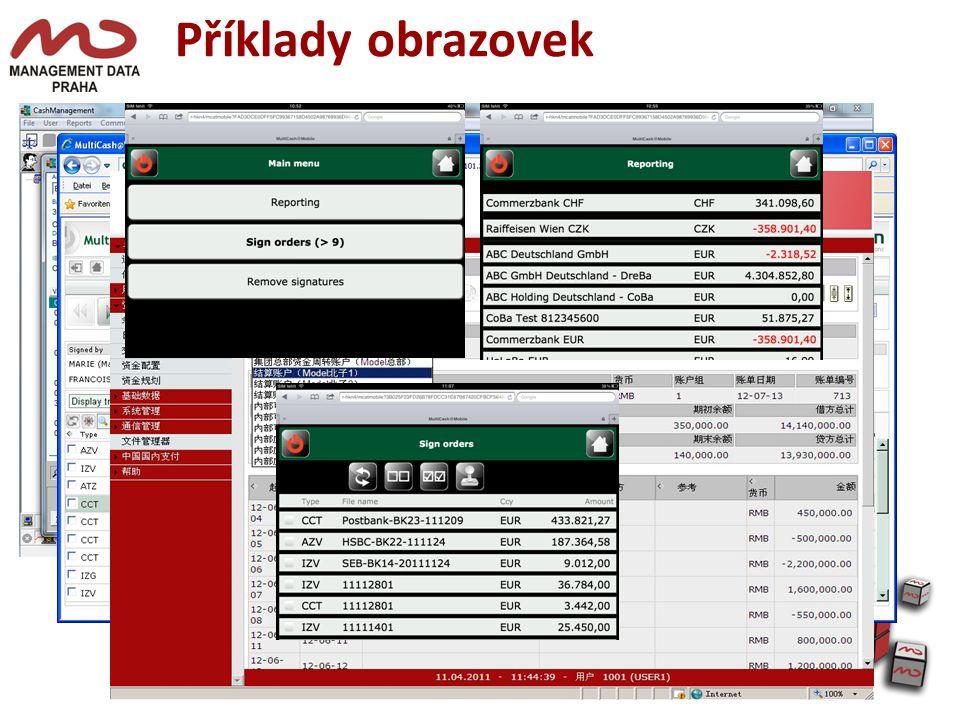 Příklady obrazovek