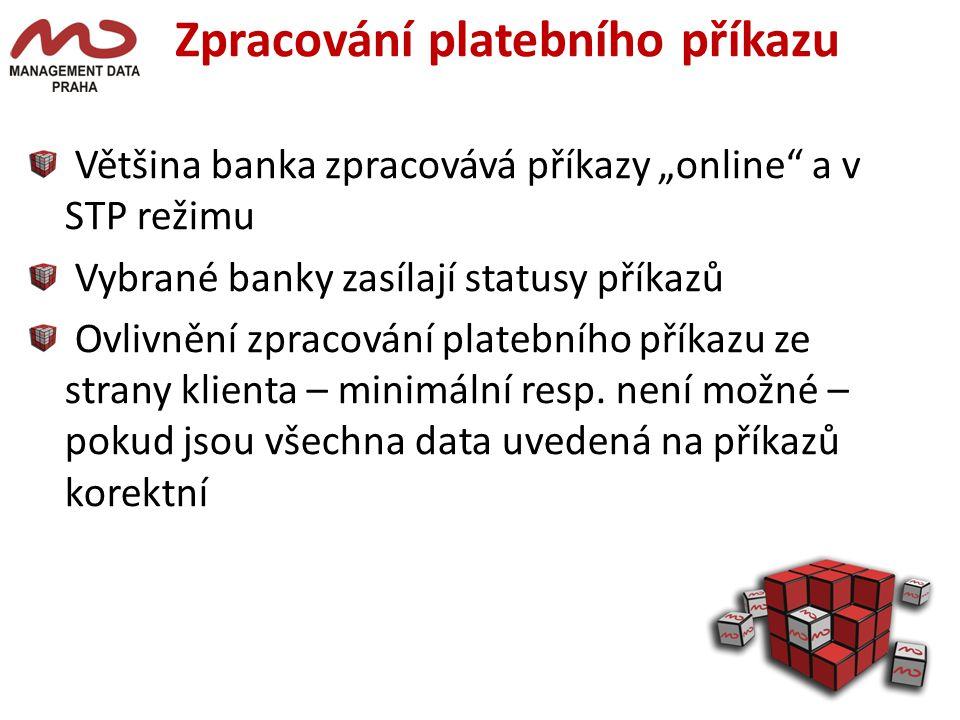 Zpracování platebního příkazu