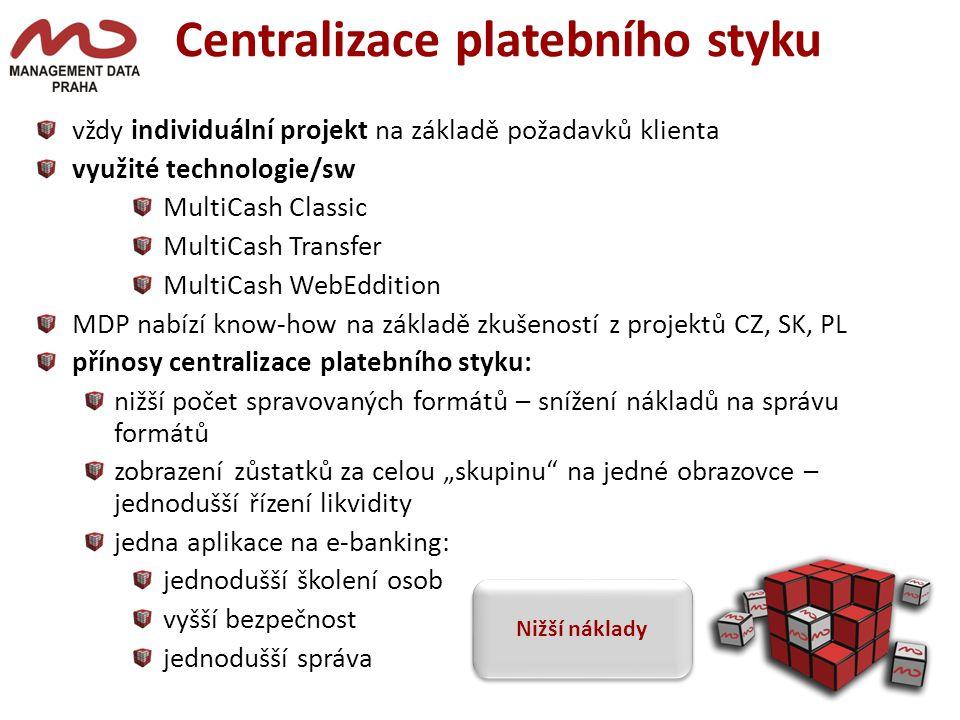 Centralizace platebního styku